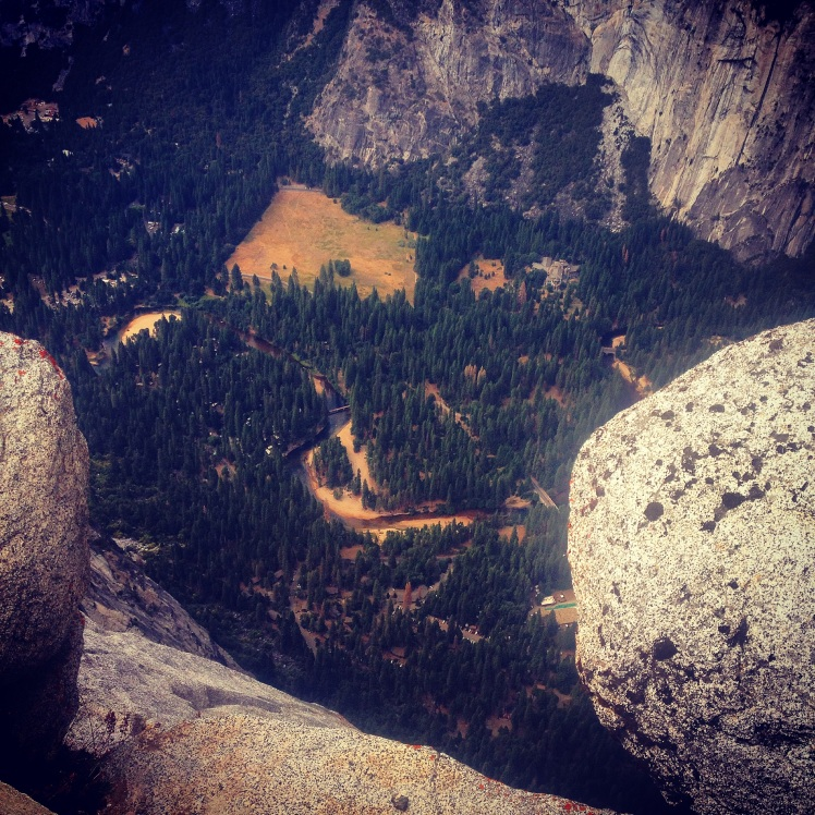 The View from the top of Glacier Point- Yosemite National Park