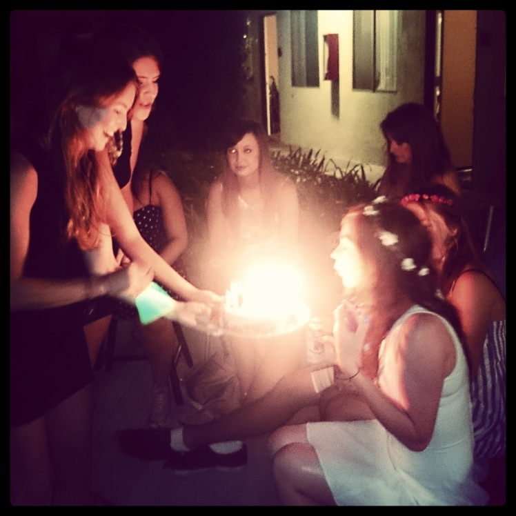 The girls surprised my with an Oreo Cake (my favorite American junk food) at one of our weekly BBQs for my birthday