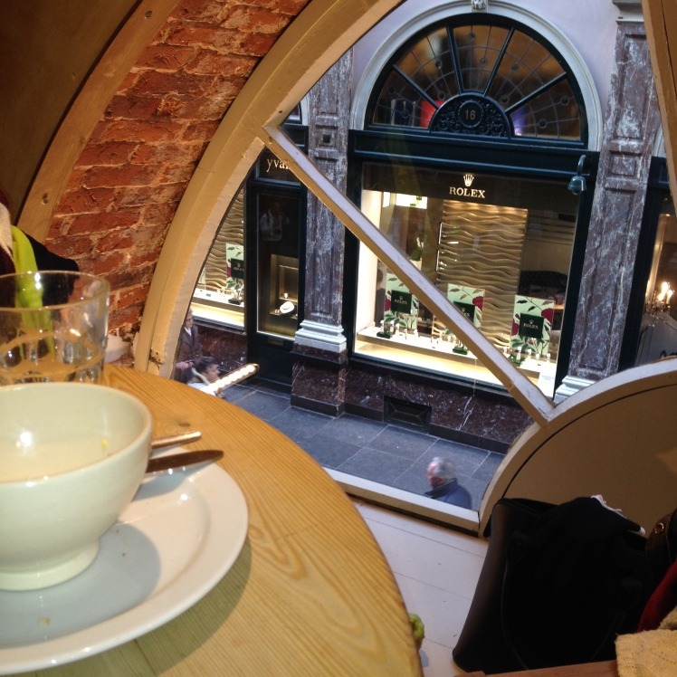 We had lunch at a little cafe in Les Galeries Saint Hubert. Another must see that we stumbled across!