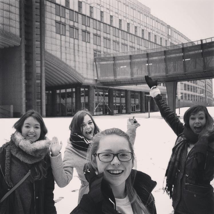 Snow Selfie at the EU Parliament