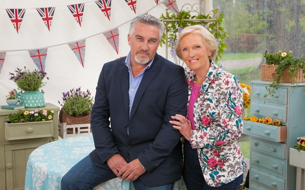 No-one eliminated in Bake Off first...Undated handout photo issued by  the BBC of judges Paul Hollywood and Mary Berry who could not agree who to send home from the Great British Bake Off giving all contestants a reprieve for the first time since the show began. PRESS ASSOCIATION Photo. Issue date: Thursday September 11, 2014. See PA story SHOWBIZ BakeOff. Photo credit should read: Mark Bourdillon/PA Wire NOTE TO EDITORS: This handout photo may only be used in for editorial reporting purposes for the contemporaneous illustration of events, things or the people in the image or facts mentioned in the caption. Reuse of the picture may require further permission from the copyright holder.