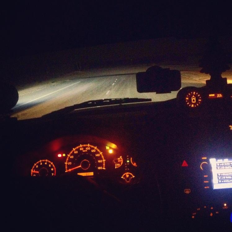 {I love going Dune Bashing in the desert at nighttime}
