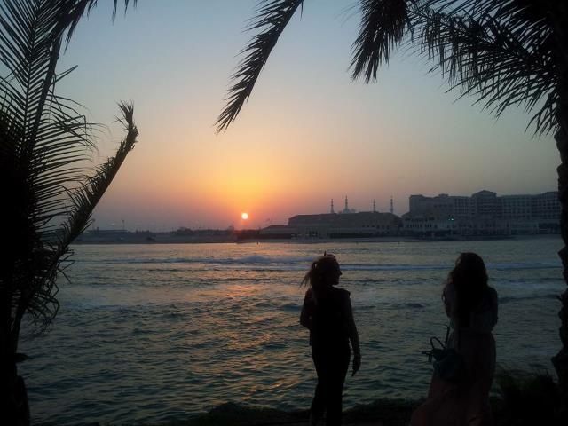 {Watching the sun set at Souk Shangri La, Photo Credit: Ailish Hatton}